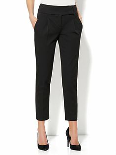 Crosby Street SuperStretch Pant - High-Waist Pleated Ankle