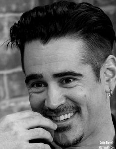 Colin Farrell- his whole face lights up when he smiles.