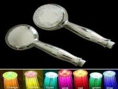 I found Color Changing Showerhead Nozzle - Rainbow LED Lights Cycle Every 2 Seconds...gotta get me one of these