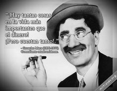 Groucho Marx, comediante estadounidense. Clint Eastwood, Osho, Hilarious, Funny, Peace Of Mind, Quotations, 1, Messages, Words