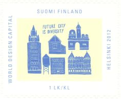 Stamp: Future City (Finland) (World Design Capital Helsinki Mi:FI Future City, Helsinki, Finland, Taj Mahal, World, Stamps, Travel, Design, The World