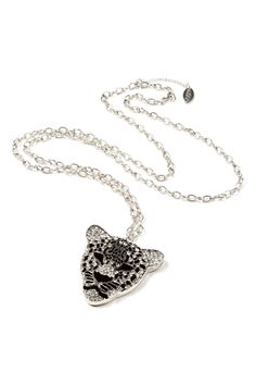 I LOVE this necklace! Amrita Singh Jeweled Tiger Pendant In Silver - Beyond the Rack