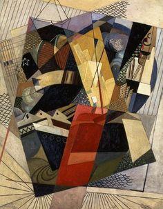 Dans le port [In port], 1917, by Albert Gleizes