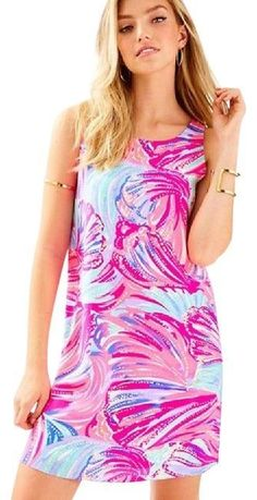 6974e4742f8d49 Lilly Pulitzer Magenta Oh My Guava Jackie Shift Silk Dress / XXS / NEW WITH  TAGS