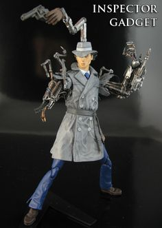 Inspector Gadget Custom Action Figure -- Go go Gadget everything by *Jin-Saotome