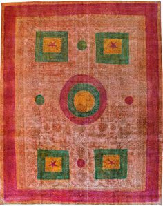 vintage Persian rug, a beautiful blend of modern and traditional designs.