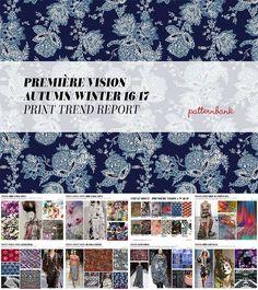 Premiére Vision Autumn/Winter 2016/2017 Print & Pattern Trend Report by Patternbank_This main blue indigo print is mine!!!