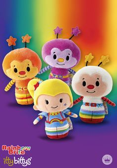 That's right, Rainbow Brite, Twink and the Sprites are back, and this time in miniature size! Your kids (and even you) will love reminiscing about your favorite characters as you play with these classic Rainbow Brite Itty Bittys® from Hallmark. These plush toys are fun to collect and the perfect gift idea for Halloween, birthdays, or Christmas.