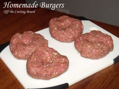 Burgers - The secret trick to making Homemade Burgers that won't shrivel up into little balls on the grill! -Homemade Burgers - The secret trick to making Homemade Burgers that won't shrivel up into little balls on the grill! Homemade Burger Patties, Burger Patty Recipe, Best Homemade Burgers, Homemade Hamburgers, Patties Recipe, Hamburger Patties, Healthy Burger Recipes, Keto Burger, Hamburger Meat Recipes
