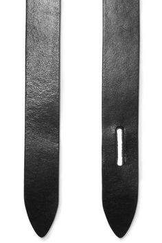 Black leather (Cow) Loop fastening  Made in Italy