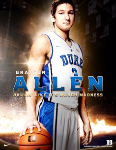 GRAYSON ALLEN - DUKE Basketball Coach, College Basketball, Basketball Players, Virginia Basketball, Grayson Allen, Coach K, Different Sports, Duke Blue Devils
