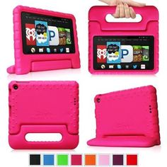 KINDLE FIRE Fintie Light Weight Shock Proof Handle Case for Kids Specially made for Kindle Fire HD 6 2014 Oct Release, Magenta - Walmart.com