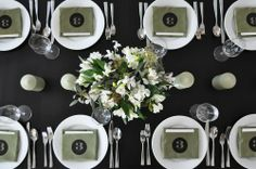 cute idea for table numbers