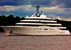 """Russian billionaires Roman Abramovich and Andrei Melnichenko are seen yearly in Anguilla, along with their megayachts, the 500 million-dollar, 500-foot Eclipse (seen here) and the 300 million dollar """"A,"""", respectively."""