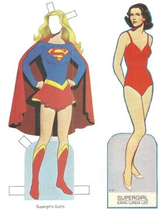 1984 SUPERGIRL Cut-Out Paper Doll Book by Tom Tierney Grosset & Dunlap, New York