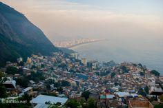 The view from Casa Alto Vidigal, Rio. Vidigal (favela).
