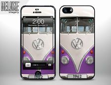 MicroBus VW Kombi bus Purple snap on hard plastic case cover for Apple iPhone 5