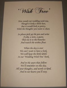 Wedding Wish Tree--> frame it and put it by guestbook