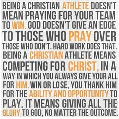 Christian Athlete :)
