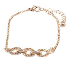 Dainty Pave Link Cuff Bracelet | Heirloom Finds Jewelry.  $10