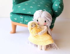 Mommy and Baby Crochet Set: Amigurumi Doll by PinkMouseBoutique