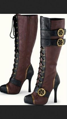 Steam punk boots! Love love LOVE!!