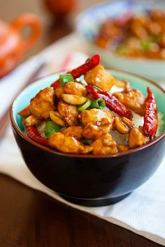 Kung Pao Chicken - healthy homemade Chinese chicken in savory and spicy Kung Pao sauce. Best Kung Pao Chicken recipe ever, much better than takeout | rasamalaysia.com