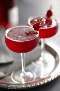 Raspberry Ginger Bellini #cocktails