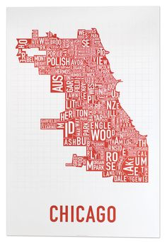 Chicago, Illinois by graphic designer Jenny Beorkrem (2007)