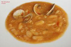 Aprendiendo a cocinar: GUISO DE ALUBIAS CON ALMEJAS