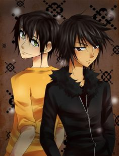 Anime versions of Nico and Percy