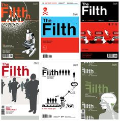 A selection of the Filth comic book series. Grant Morrison, Chris Weston and Gary Erskine