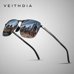 2446d17e1e VEITHDIA Men s Vintage Square Sunglasses Polarized UV400 Lens Eyewear  Accessories Male Sun Glasses For Men Women V2462