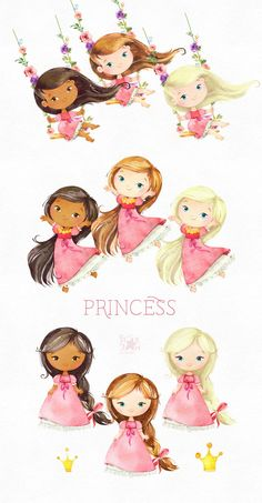 png text for girl \ png text ; png text for picsart hd ; png text effects ; png text for girl ; png text for picsart hd for boys Royal Girls, Pink Watercolor, Baby Prints, Cute Illustration, Oeuvre D'art, Cute Drawings, Fairy Tales, Craft Projects, Etsy