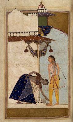 ca. 1530 Laur Chanda - Hindu Allegorical romance, by Maulana Daud of Dalmau. Malwa ? India. U of Manchester Library UK
