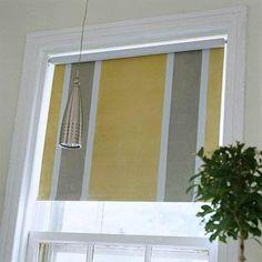 Window shade, painted