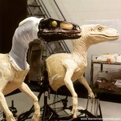 Stan Winston Studio - the #dinosaur factory. #jurassicpark #lostworld #animatronics #raptor #puppet #liveaction #dino #dinosaurs #stanwinstonstudio #stanwinston #sws #bts #behindthescenes #velociraptor #dinomania #dinomaking #practicaleffects #specialeffects #hollywood #moviemagic #stevenspielberg #blockbuster