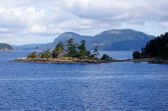 small islet off Pender Island in The Gulf Islands, BC