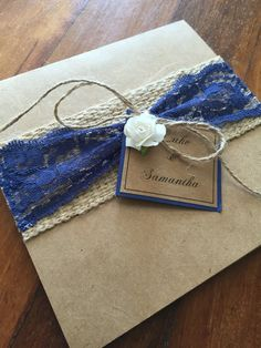 Navy blue, very popular this year For your rustic wedding invitations