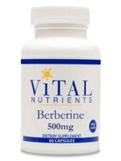 Vital-Nutrients-Berberine-500-mg-60-caps-VNBER5-Exp-2-18-SD