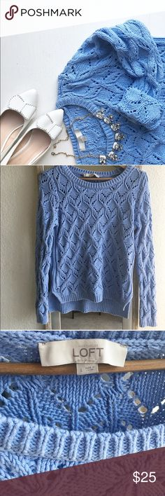 Loft sweater Cute style, good conditions( fits like medium ) LOFT Sweaters