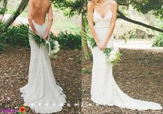 Sexy Mermaid Wedding Dress Backless Wedding Gown by FashionStreets