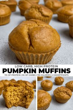 If you're in need of low carb breakfast or snack ideas, you'll love these pumpkin protein muffins. They're super easy to make and have just 3 net carbs each!
