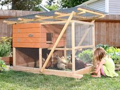 The Garden Ark Mobile Chicken Coop.  Click for the story and photos.  This coop is called a Chicken Tractor because it's mobile.  There are many advantages to moving your chickens around your garden, yard, or farm.  It keeps them happy and benefits the land!
