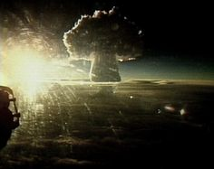 Tsar Bomba: The explosion of the most powerful thermonuclear device happened in October, 30th, 1961 at 11:32 am during XXII Communist Party Congress work. The bomb was dropped from a bomber TU-95 from 10.5 km height. Detonation of the bomb happened 4500m high above sea level. The explosion yield reached 58 Megatons.