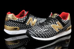 Men And Women New Balance 576 NB576 Shoes NB576 wave point Black White Gold|only US$65.00 - follow me to pick up couopons.