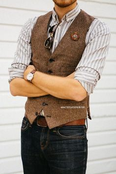 tweed vest #men #menfashion #fashion #mensfashion #manfashion #man #fashionformen