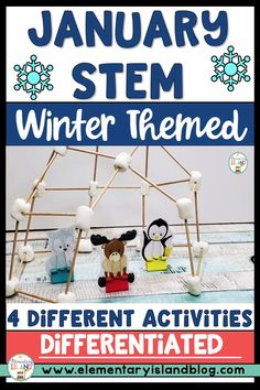 Keep first, second, third, and fourth graders engaged and learning after the long winter break with this January Winter STEM Engineering Challenges resource. Included in this resource are four exciting activities that include an outline, a teacher brief listing all of the needed items Snow Activities, Steam Activities, Kindergarten Activities, Classroom Activities, Winter Stem Activities For Kids, Holiday Activities, Classroom Ideas, Winter Theme, Long Winter
