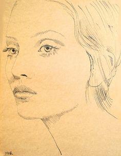 "Saatchi Online Artist Loui Jover; Drawing, ""annabel"" #art"