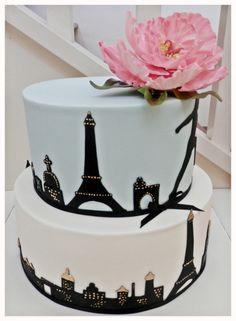 Paris Birthday Cakes, Paris Themed Cakes, Paris Cakes, Birthday Cakes For Teens, Cake Birthday, Teen Birthday, Cakes To Make, How To Make Cake, Pretty Cakes